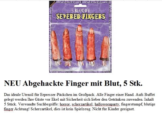Halloween-Körperteile und Horror Masken | Chemtrail.de