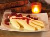 Eiskaltes Händchen Puddinghand mit roter Gruetze